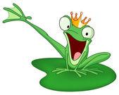 Happy frog prince — Stock Vector