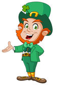 Leprechaun presenteren — Stockvector