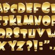 Gold alphabet — Stock Vector #9161560