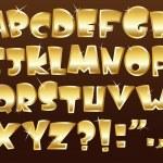 Gold alphabet — Stock Vector