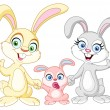Bunnies family — Image vectorielle