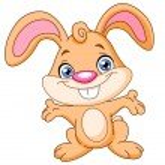 Happy bunny — Stock Vector