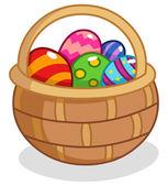 Easter egg basket — Stock Vector