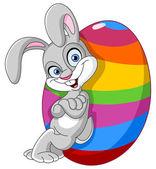 兔子的复活节彩蛋 — 图库矢量图片