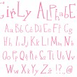Stock Vector: girly alphabet