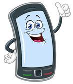 Smart phone cartoon — Stock Vector