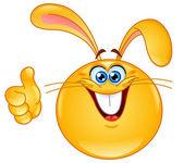 Bunny emoticon — Stock Vector