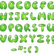 Eco bubble alphabet — Stock Vector