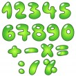 Stock Vector: Eco bubble numbers