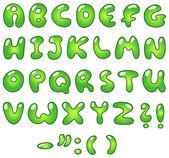Eco bubble alphabet — Stock Vector