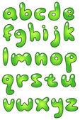 Lower case eco bubble alphabet — Stock Vector