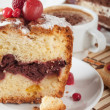 Tasty cherry cake — Stock Photo