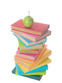 Stack of colorful books — Foto Stock
