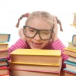 Little girl with books — Stock Photo #8736910