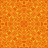 Orange seamless wallpaper pattern — Vector de stock