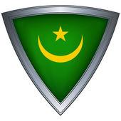 Stalowa tarcza z flaga mauretanii — Wektor stockowy