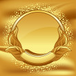 Gold frame on gold background — Stock Vector