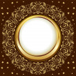 Gold vintage frame — Stock Vector #8553653
