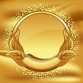Cadre or sur fond d'or — Vecteur