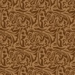 Stock Vector: Brown seamless wallpaper pattern