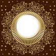 Gold vintage frame — Stock Vector #8674813