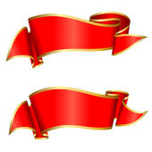 Collection ruban rouge — Vecteur