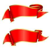 Sbírka červená stužka — Stock vektor