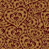 свадебный бесшовный образец — Cтоковый вектор