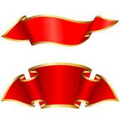 Red ribbon collection — Vetor de Stock