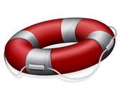 Red lifebuoy — Stock Vector