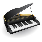 Black piano — Stock Vector