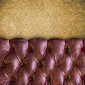 Luxury buttoned leather texture — Stock Photo