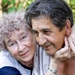 Actual gladness of elderly hugging — Stock Photo #8231193