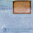 Stock Photo: Shabby jeans pocket