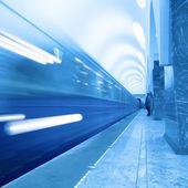 Moving train — Stock Photo