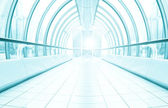 Diminishing transparent hallway — Stock Photo