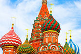 Cupolas of Saint Basil's Cathedral on Red square — Stock Photo