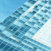 Beautiful reflection in modern glass wall — Stock Photo