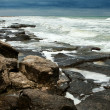 Stock Photo: Rocky Shoreline With Pounding Surf
