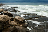 Rocky Shoreline With Pounding Surf — Stock Photo