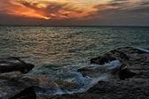 Orange Ocean Sunset — Stock Photo