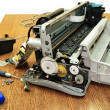 Stock Photo: Disassembled printer.