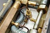 растягивающийся шланг и гидравлические трубы — Стоковое фото