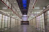 Alcatraz cells at night — Stock Photo