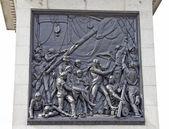 Nelson memorial in Trafalgar Square, London — Stock Photo