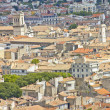 Aerial view of the city Nimes, France - Stock Photo