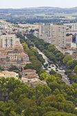 Nimes, Fransa havadan görünümü — Stok fotoğraf