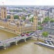 Royalty-Free Stock Photo: Aerial view of the Big Ben, the Parliament and the Thames river