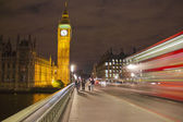 The Big Ben and the Parliament by night — 图库照片