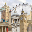 Famous landmarks of London, UK — Stock Photo